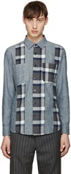 Blue Blue Japan Navy Flannel Cutover Shirt