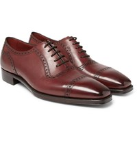 Gaziano And Girling St James Ii Polished Leather Wingtip Brogues Burgundy