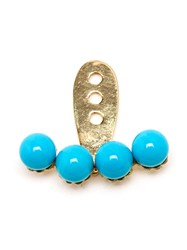 Yvonne Leon Yvonne Leon 18Kt Yellow Gold And Turquoise Lobe Earring Blue