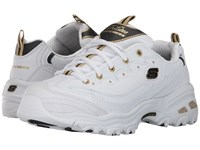 Skechers D'lites With It White Black Gold Women's Shoes Yellow