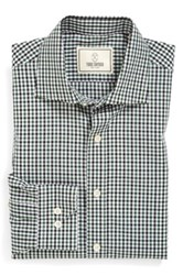 Todd Snyder Trim Fit Check Dress Shirt Green