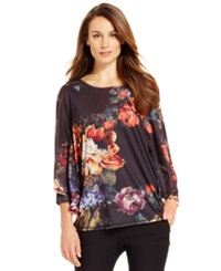 Miraclesuit Shaping Floral Print Poncho Top Still Life Floral Print