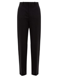 Balenciaga Tailored Mid Rise Wool Twill Trousers Black