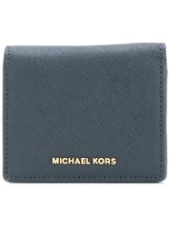Michael Michael Kors Snap Wallet Blue