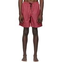 Solid And Striped Red Purple The California Swim Shorts