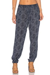 Velvet By Graham And Spencer Janalee Printed Pant Navy