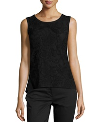 Laundry By Shelli Segal Embroidered Combo Tank Black