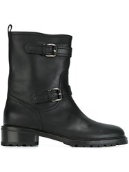Unutzer Zipped Combat Boots Black