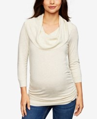 A Pea In The Pod Maternity Cowl Neck Sweater Light Heather Grey
