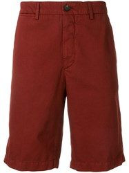 Ermenegildo Zegna Knee Length Fitted Shorts Red
