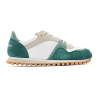Spalwart Green And White Marathon Trail Low Sneakers