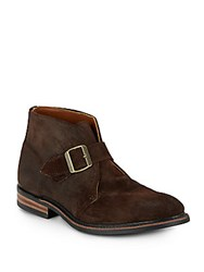 Walk Over Grove Suede Buckle Ankle Boots Dark Brown