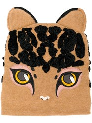 Dolce And Gabbana Cat Shaped Beanie Brown