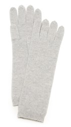 Tse Cashmere Long Gloves Ice Grey