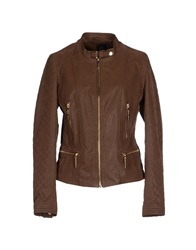 Yes Zee By Essenza Jackets Brown