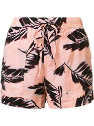 Obey 'Fenix' Shorts Pink And Purple