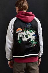 Urban Outfitters Uo Embroidered Skull Souvenir Jacket Black Multi