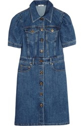 Miu Miu Denim Mini Dress Indigo