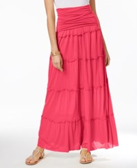 Inc International Concepts Tiered Convertible Maxi Skirt Only At Macy's Polished Coral