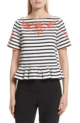 Kate Spade Women's New York Embroidered Tee