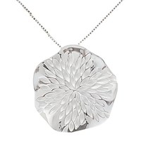 Nina B Sterling Silver Wavy Disc Pendant