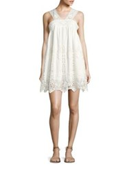 Nightcap Clothing Pixie Lace Mini Dress Vintage White