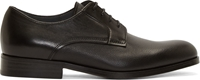 Lanvin Black Grained And Buffed Leather Derbys