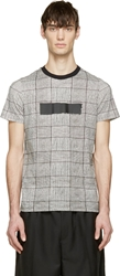 Kris Van Assche Black And White Glenplaid T Shirt