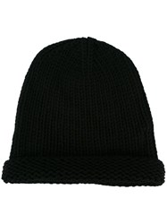 Isabel Benenato Knitted Beanie Black