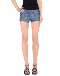 Playboy Denim Denim Shorts Women Blue