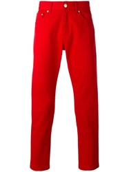 Msgm Regular Jeans Red