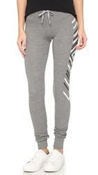 Sundry Chevrons Skinny Sweatpants Heather Grey
