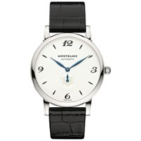Montblanc 107073 Men's Star Classique Automatic Alligator Leather Strap Watch Black White