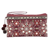 East Serina Mirror Clutch Bag Purple