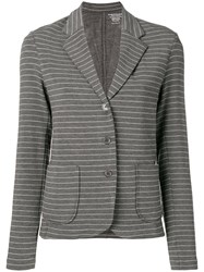 Majestic Filatures Striped Single Breasted Blazer Grey