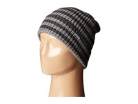 Michael Michael Kors Thermal Stripe Fold Up Cuff Hat Charcoal Ash Beanies Gray