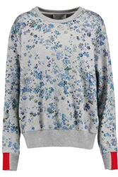 Preen Gaspar Printed Cotton Jersey Sweatshirt Blue
