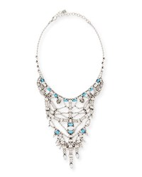 Dannijo Malin Crystal Statement Necklace Turquoise