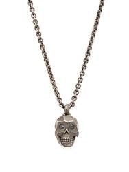 John Hardy Black Sapphire And Sterling Silver Skull Necklace