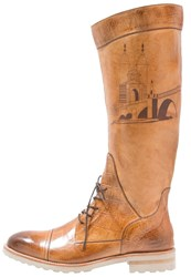 Melvin And Hamilton Tom 16 Laceup Boots Big Sand Cognac
