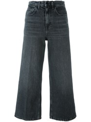 Alexander Wang Cropped Wide Leg Jeans Grey