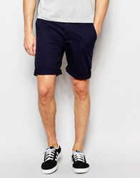 D Struct Turn Up Chino Shorts Navy