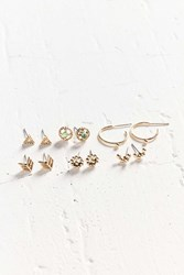 Urban Outfitters Raven Post Earring Set Gold