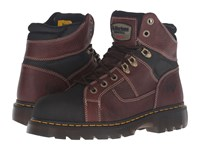 Dr. Martens Work Ironbridge Tec Tuff Steel Toe 8 Tie Boot Teak Pitstop Lace Up Boots Brown