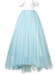 Christian Siriano Tulle Skirt Ball Gown Blue