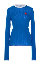 Vivetta Blue Gruggione Long Sleeve Sweater Royal Blue