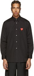 Comme Des Garcons Play Black Heart Patch Shirt