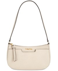 Calvin Klein Saffiano Demi Shoulder Bag Wheat