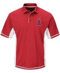 Majestic Men's Los Angeles Angels Of Anaheim Top Of The Inning Polo Red