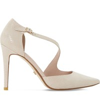 Dune Constance Suede Courts Blush Reptile